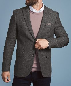 Formal Tweed Wool Jacket