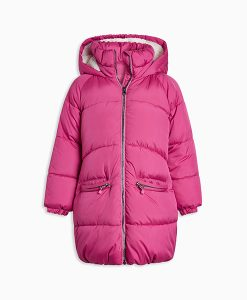 Pink Long Padded Coat