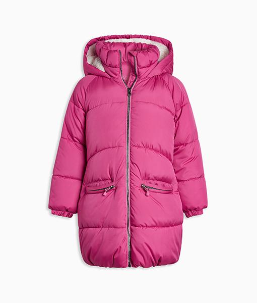 Pink Long Padded Coat