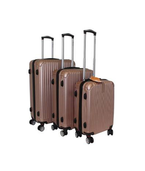 Rose Gold Hard-Shell Suitcase