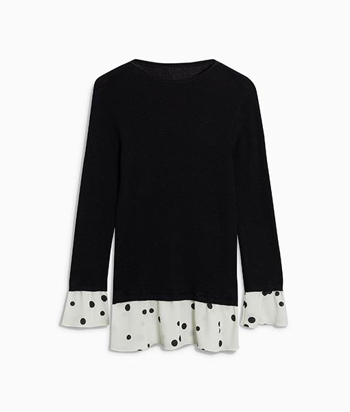 Ruffle Layer Sweater