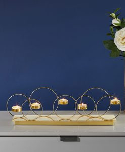 Gold Loop Candelabra