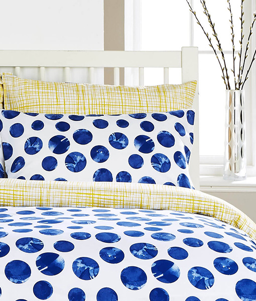 Kingsley Marbles Indigo Double Duvet Set