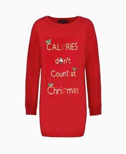 Christmas Calories Jumper Dress