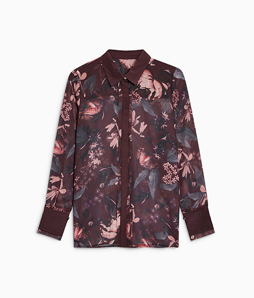 Purple Floral Shirt