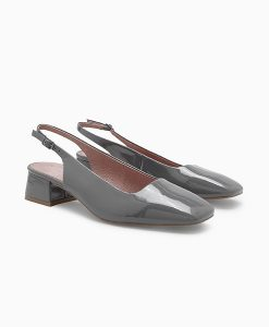 Grey slingback shoe