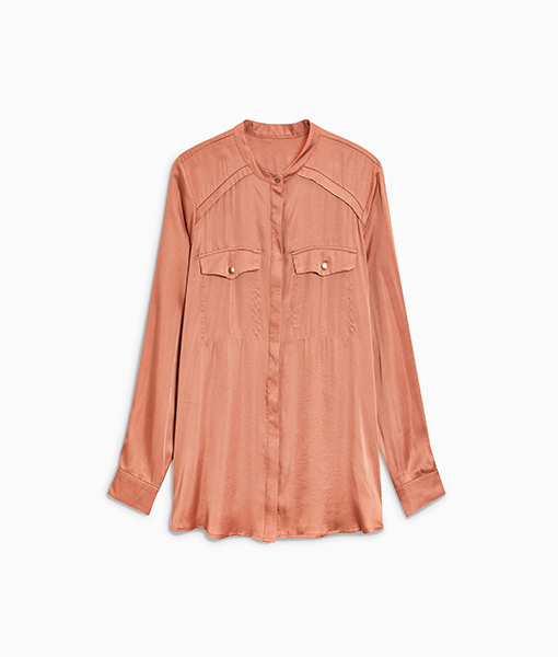 Copper Satin Shirt