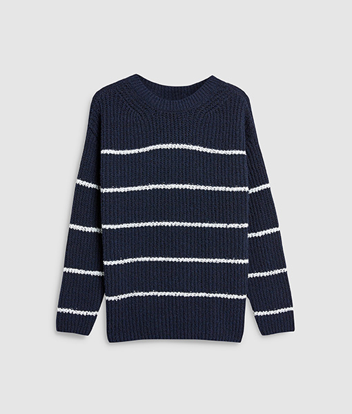 Stripe Navy Sweater