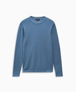 Blue crew neck knit