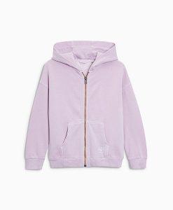 Girl's lilac zip hoodie