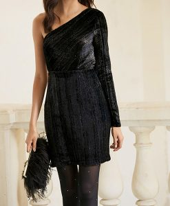 Sparkle One Shoulder Dress