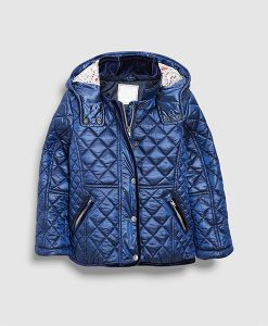 Quilted Navy Coat