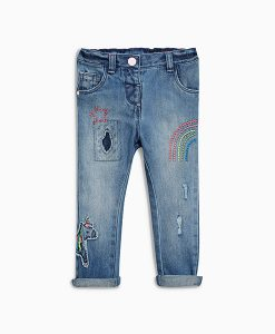 Girl's light straight jean