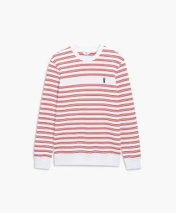 mens red striped jumper