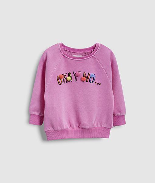 Girl's purple hoodie