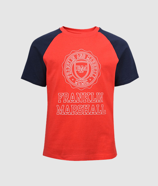 Franklin & Marshall Contrast Sleeve T-Shirt