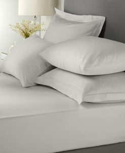 Dove grey fitted sheet