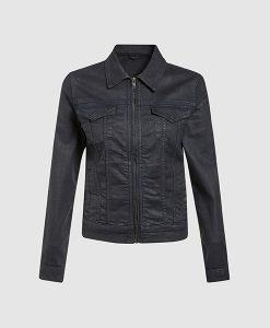 Navy Coated Jacket