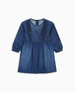 Girl's ruffle denim dress