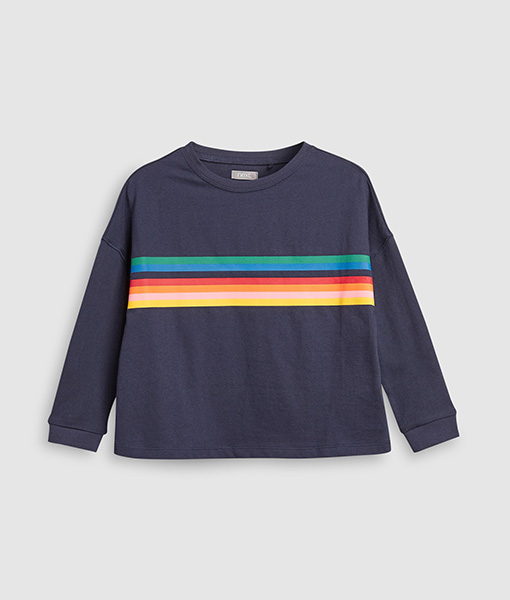 Rainbow strip sweat
