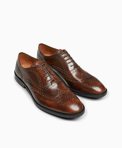Brown high shine brogue