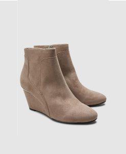 Nude Wedge Boot