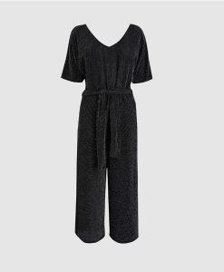 Black silver jumpsuit
