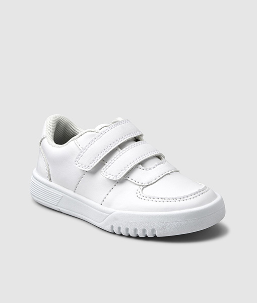 white Chunky Velcro Trainer