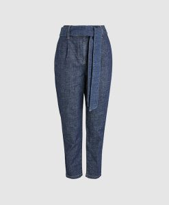 Belted Denim Trousers