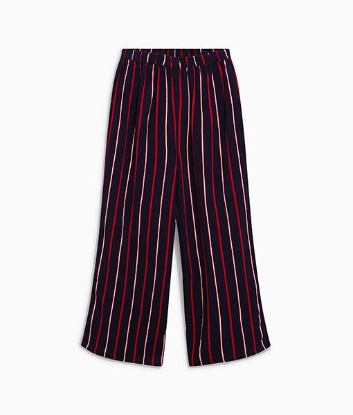 Girl's stripe wide leg trouser