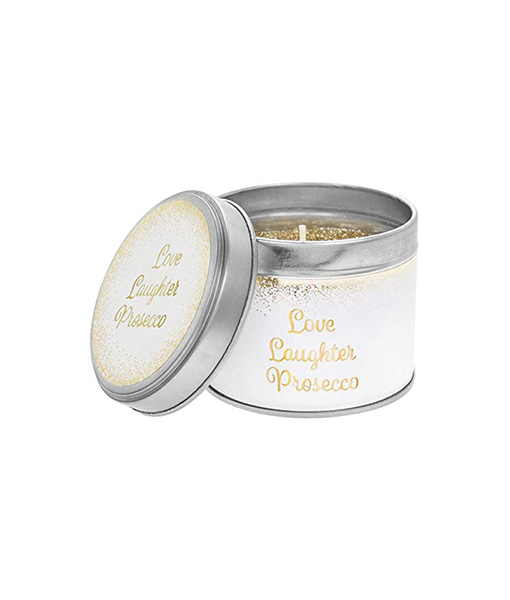 Love Laughter Prosecco Candle