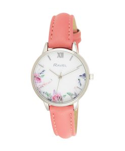 Ravel Coral Floral Watch