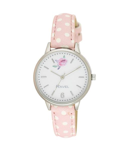 Ravel Pink Spot Watch