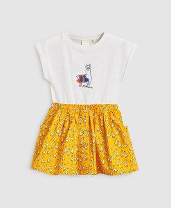 Llama Print Dress