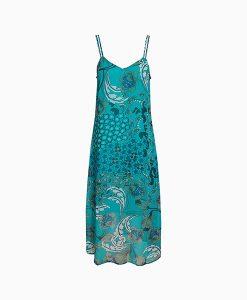 Teal Printed Dress