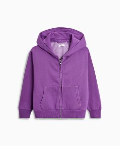 Purple Zip Through Hoody