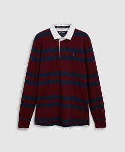 Burgundy Stripe Rugby Shirt