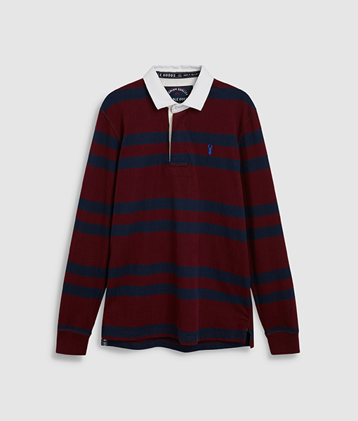Burgundy Stripe Rugby Shirt