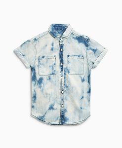 Bleach denim boys shirt
