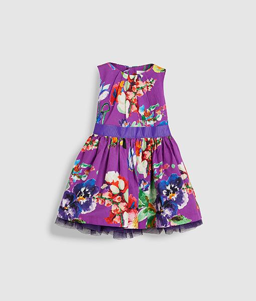 Girl's purple dress