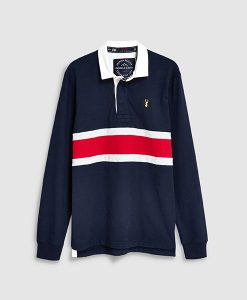 Colour Block Stripe Rugby Shirt
