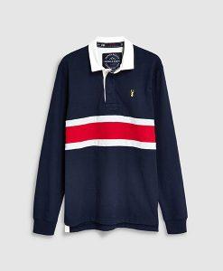 Colour Block Stripe Rugby Shirt