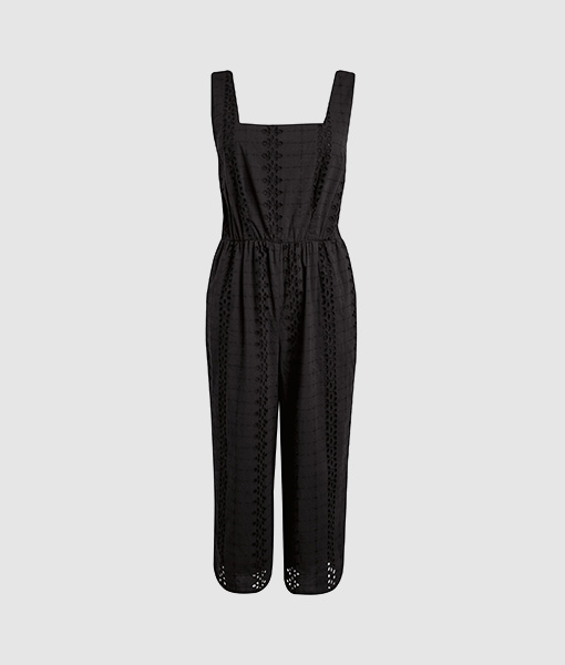 Black Broderie Jumpsuit