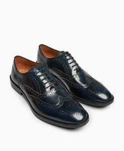 Navy Brogue Shoes