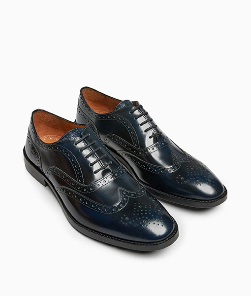 Navy Brogue Shoes