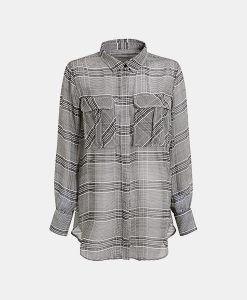 grey check utility shirt