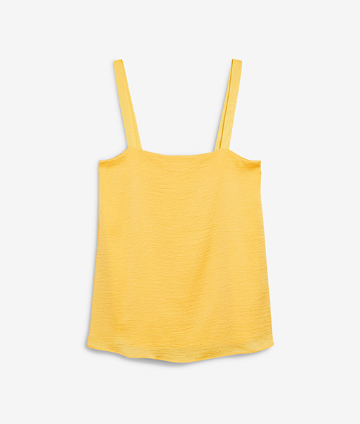 Yellow Square Neck Cami Top