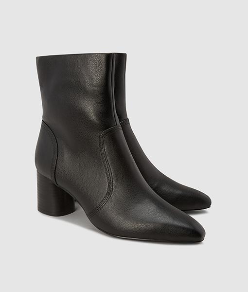 Cylinder Heel Black Boot