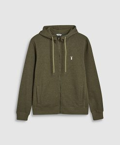 Green zip front sweat