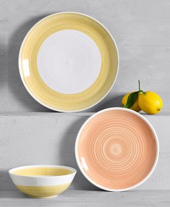 Yellow dinner set